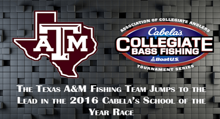 Texas a m fishing team leaps to the top bass angler magazine for College bass fishing