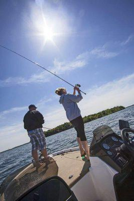Jamie (left) and Britt Davis are avid bass anglers from Hutchinson, MN, who frequent Lake Mille Lacs Aaron W. Hautala-RedHouseMedia