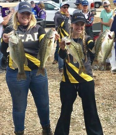 All girl college bass fishing team make history bass for College bass fishing