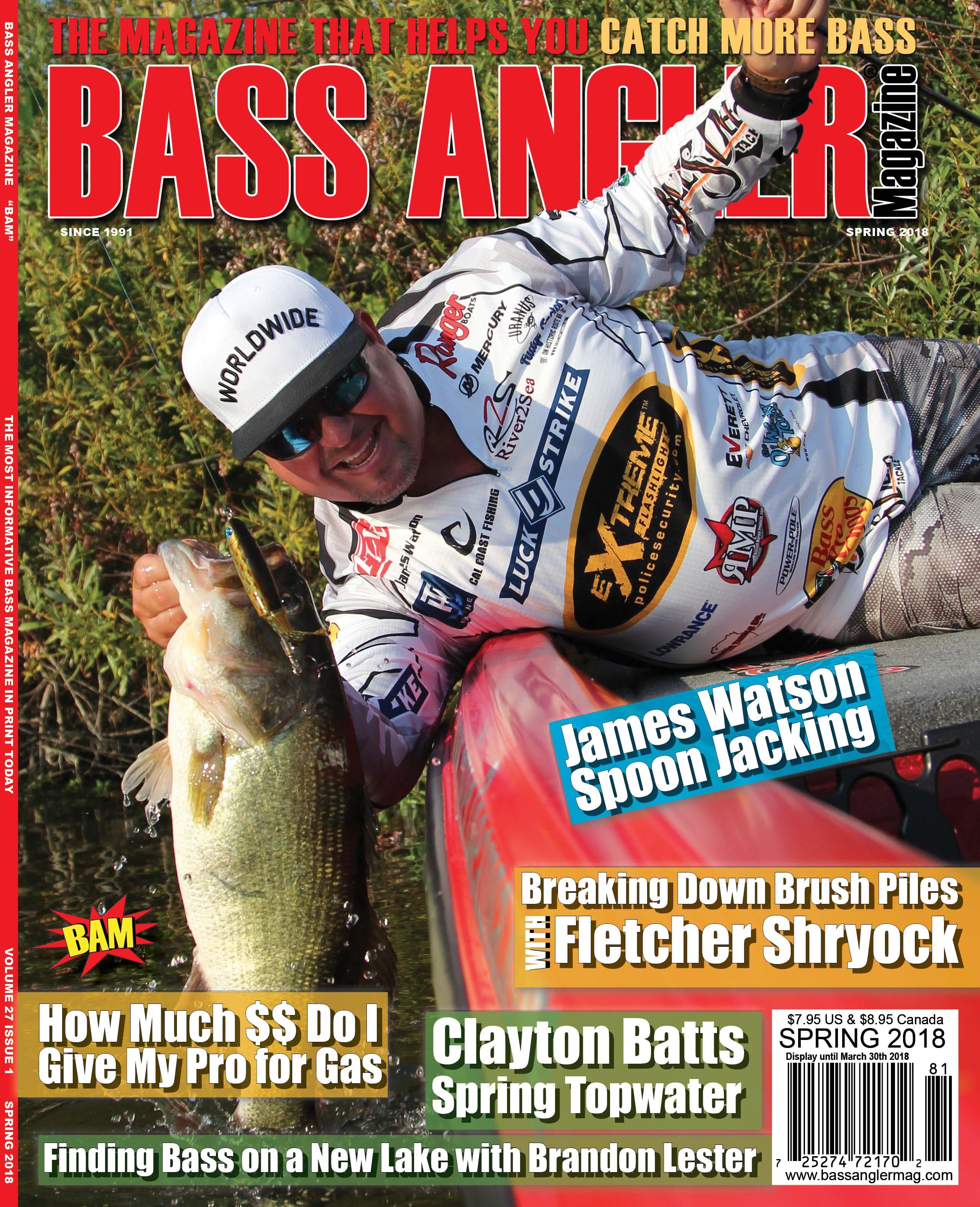 >Bass Angler's Guide The Magazine   DieCutStickers.com