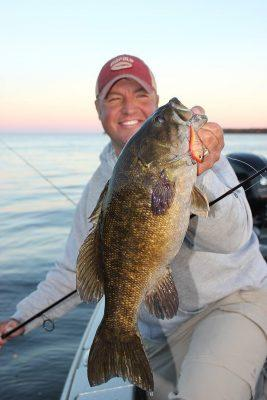 Tony Roach guide tournament angler and outdoor communicator, knows where to find the big bass on Lake Mille Lacs - Photo provided by Tony Roach
