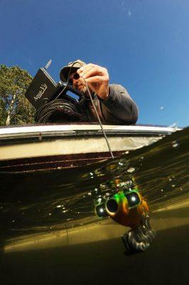 Even in darker or slightly stained waters, underwater cameras armed with integrated lighting can enlighten anglers with the fish and hide-outs it shows on-screen. Photo by Bill Lindner