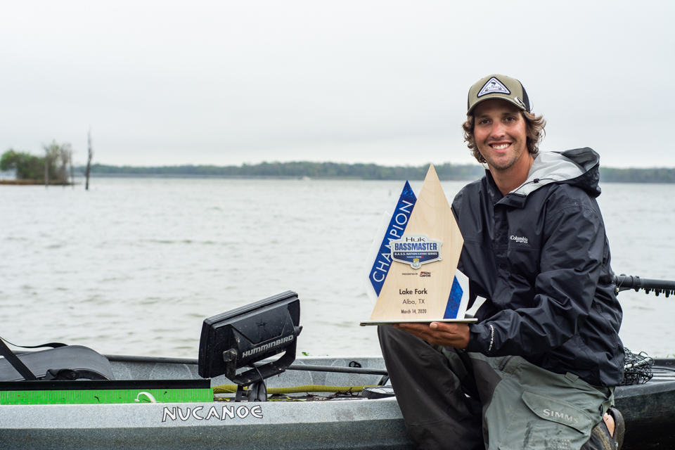 Arkansas Pro Cody Milton Wins Texas Lake Fork Bass Kayak Tournament Bass Angler Magazine